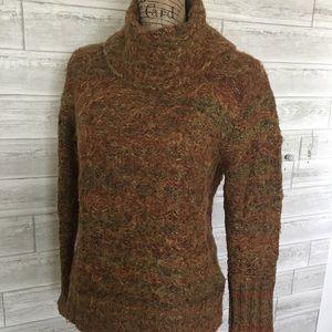 Heathered tan acrylic sweater
